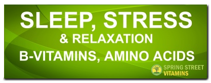 Sleep Stress and B Vitamins
